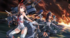 Konachan.com - 223655 battleship_girls group kantai_collection zeco