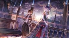 Konachan.com - 209183 chuunibyou_demo_koi_ga_shitai! dress goth-loli lolita_fashion red_flowers sword takanashi_rikka thighhighs togashi_yuuta umbrella weapon