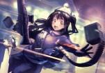 Konachan.com - 220355 gun idolmaster idolmaster_cinderella_girls noname_(metaldragonfly) shimamura_uzuki tom_clancy's_the_division weapon