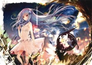 konachan-com-201210-akahito-blue_hair-long_hair-original-red_eyes-skirt