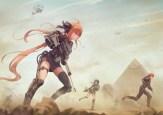 konachan-com-226730-aqua_eyes-girls_frontline-gun-jay_xu-long_hair-male-military-orange_hair-ribbons-signed-weapon