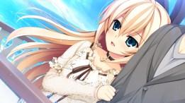 Konachan.com - 206771 asami_asami blonde_hair blue_eyes choker cross game_cg kurashiki_azusa long_hair male pretty_x_cation_2 water