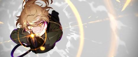 Konachan.com - 237960 blonde_hair gun military short_hair tagme_(artist) tanya_degurechaff uniform waifu2x weapon yellow_eyes youjo_senki