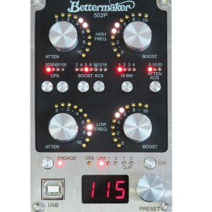 Bettermaker 500 Series digitally controlled stereo Pultec EQ