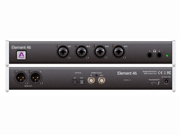 Apogee Element 46 (12 in x 14 out Thunderbolt  Audio I/O Box For Mac)