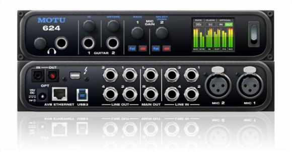 MOTU 624 Audio Interface available from Kazbar Systems, the UK's premier Pro Audio & Studio Installation company