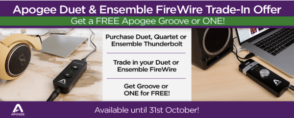 Apogee Duet Firewire & Ensemble Upgrade available from Kazbar Systems