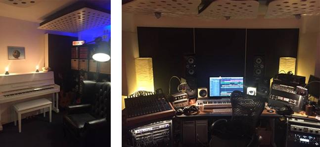 Daydream Music Recording studio and control room
