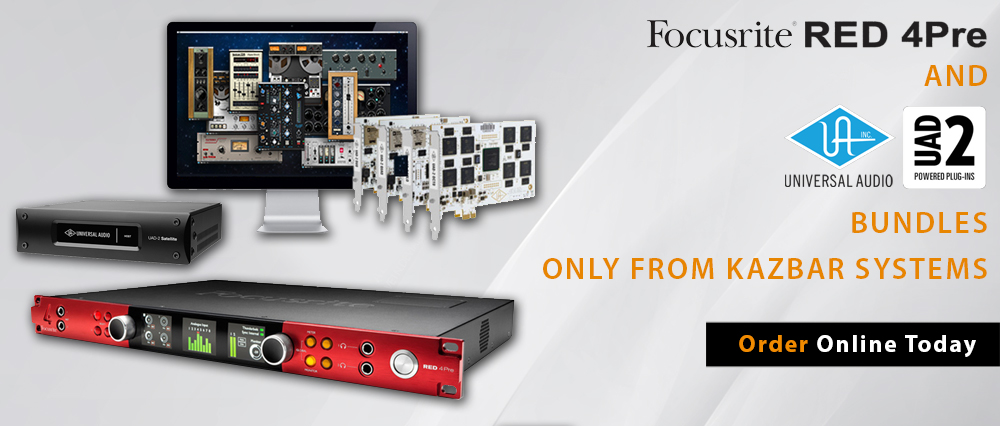Focusrite Red 4 Pre & Universal UAD2 Bundles available from Kazbar Systems