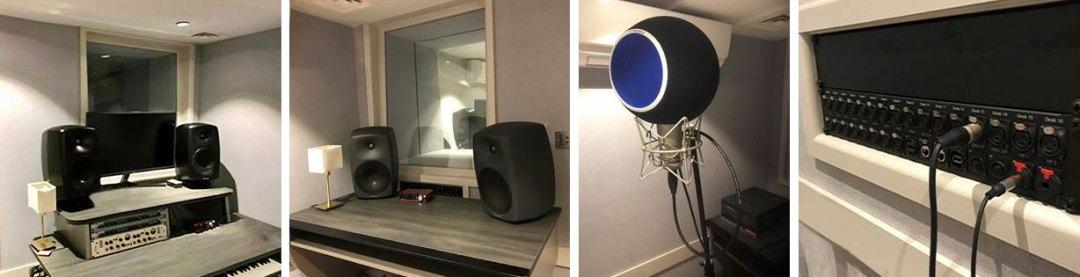 Recording Room 2 and 3, audio equipment