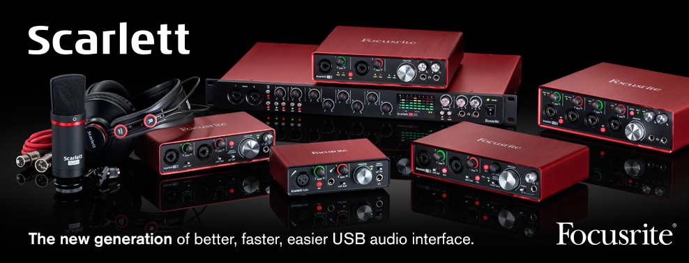 Focusrite Scarlett 2nd Generation available from Kazbar Systems