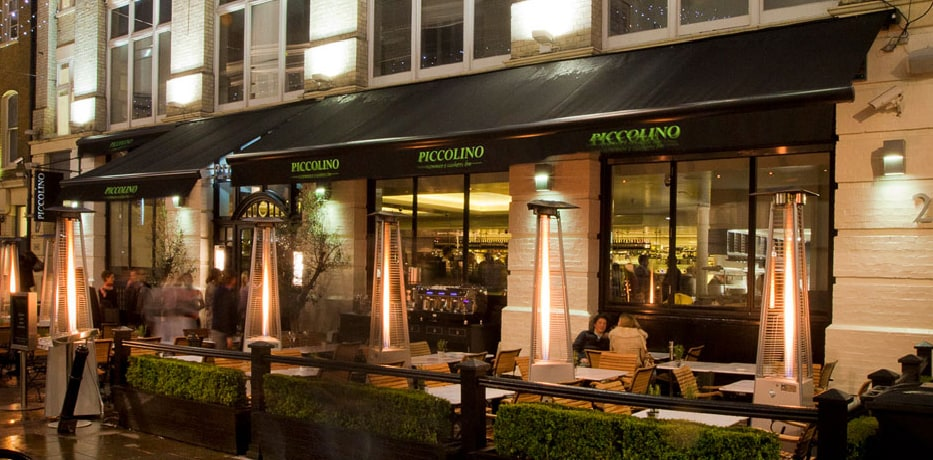 Piccolino Heddon Street outside dining area.
