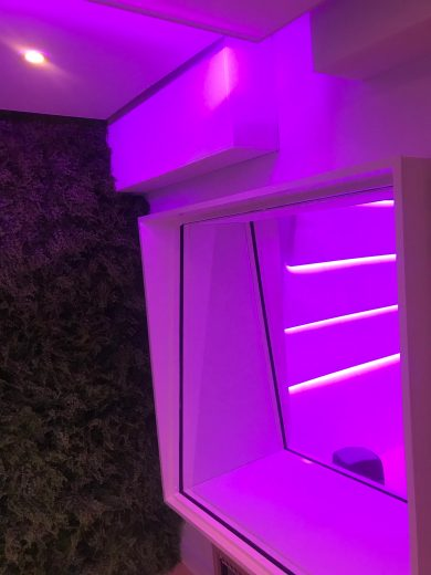 Vocal Booth with pink Lighting