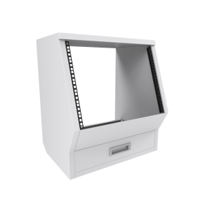 Floor rack cabinet White for Enterprise and Commander Series White
