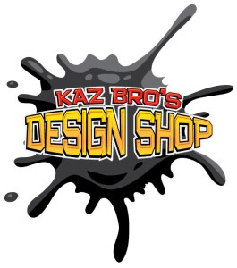 kaz bros design shop logo