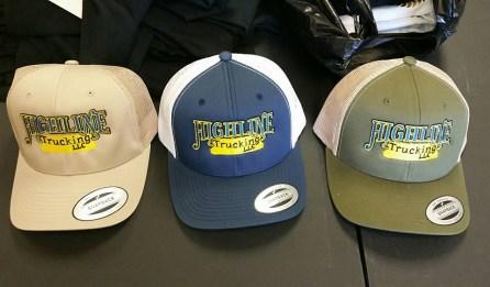 Set of three custom hats created by Kaz Bros Design Shop