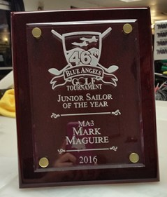 2016 Junior Sailor plaque created by Kaz Bros Design Shop