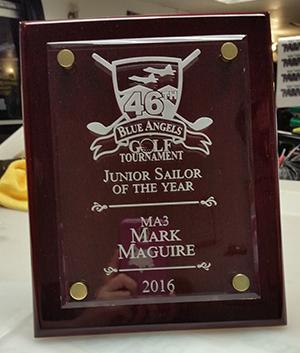 2016 Junior Sailor plaque created by Kaz Bros Design Shop
