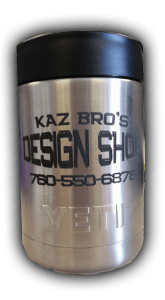 Custom Yeti tumbler engraved by Kaz Bros Design Shop