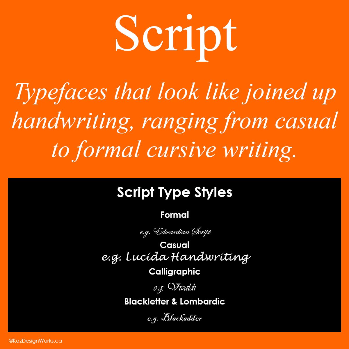 Graphic Design Terms 7 8 Script Vs Decorative