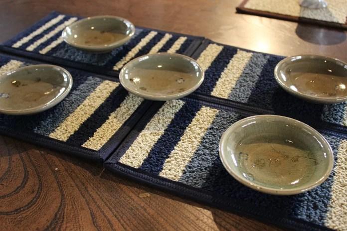 灰釉草絵小皿(5客組)