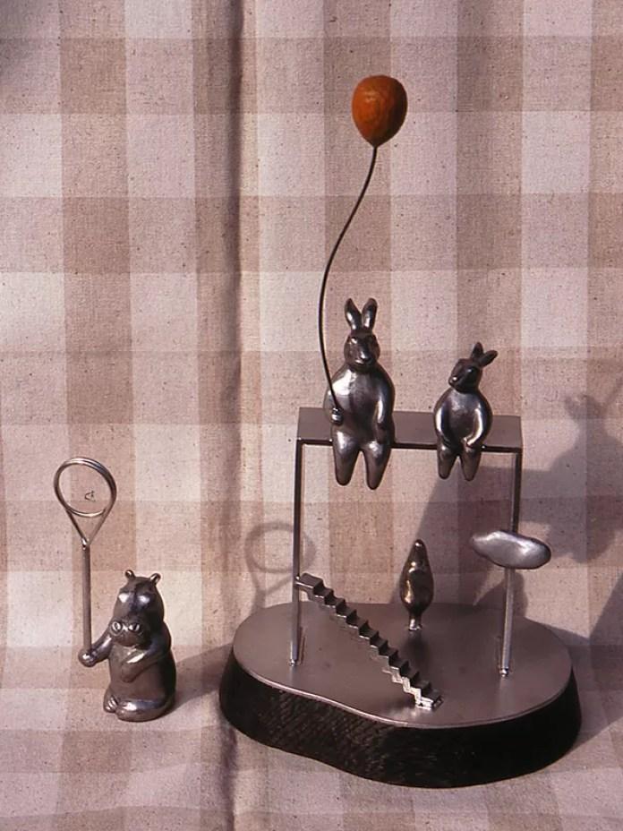 カバのカード立て・兎と風船