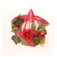 fleur de table rouge