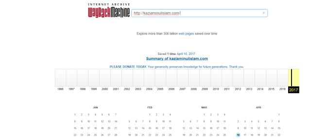 web archive test