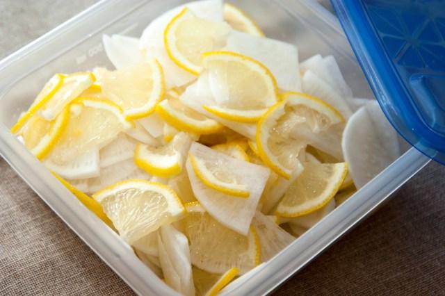大根とレモンの浅漬け