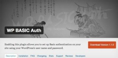 WORDPRESSで作成したサイトにBASIC認証を簡単に導入するプラグイン – WP BASIC Auth