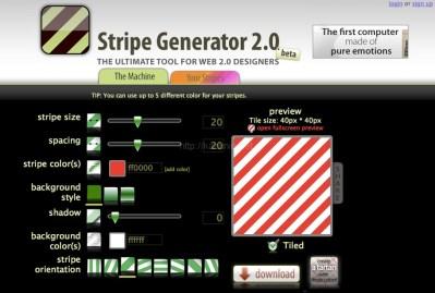 斜め背景ブロック画像を超簡単に作れるジェネレータ「stripegenerator」のご紹介