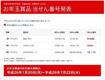 2014年(平成26年)年賀状当選番号ほか今日の #スクラップ #2014 #1/21