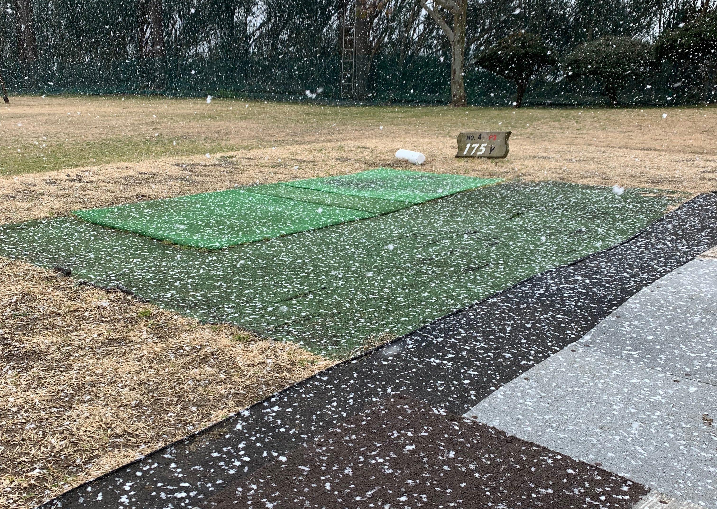 降雪!シーサイドゴルフ木更津でショートコースの巻!