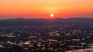 田植え前の一番いい時期の富山県・散居村を見てきました☆