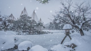 大雪の金沢からお送りします~雪の合間の晴れに兼六園&金沢城~