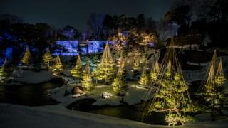 週末限定の金沢城・玉泉院丸庭園の雪ライトアップを撮ってきました【兼六園ライトアップも20日まで】