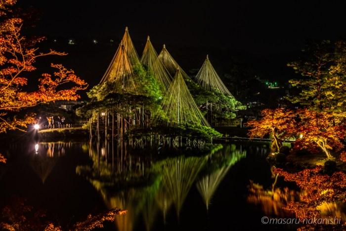 金沢・兼六園ライトアップ秋