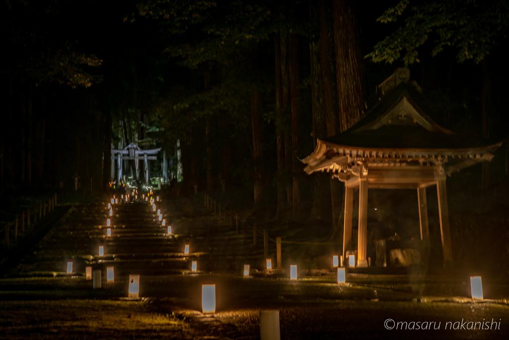 平泉寺白山神社のライトアップ