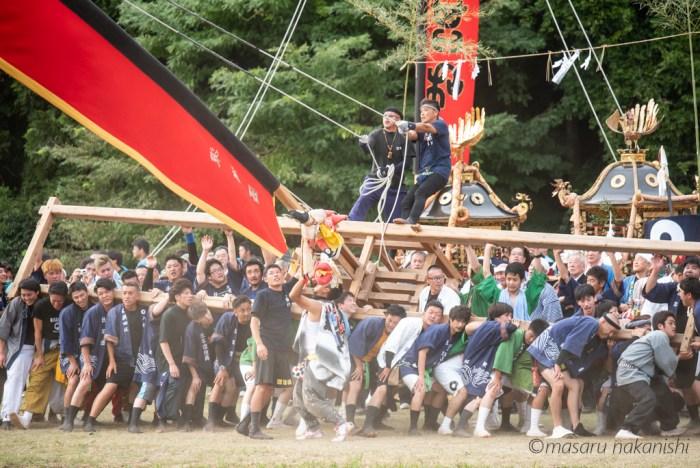 七尾市中島町のお熊甲祭り・島田くずし