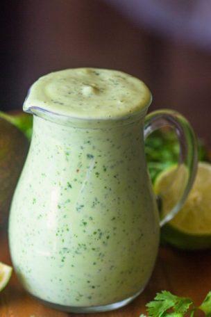 Avocado, Coriander, Lime Sauce/Dressing