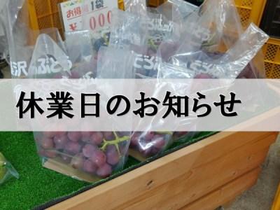 【2019/9/15(日曜)】青木果樹園の直売所は1日休業致します。 116