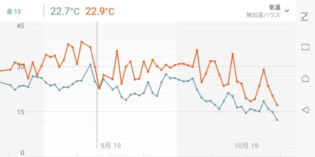 ハウス内の気温