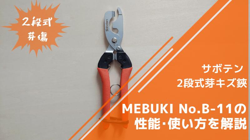 サボテン 2段式芽キズ鋏 MEBUKI No.B-11の性能・使い方を解説【ブドウの芽傷に】 189
