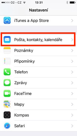 iPhone - Pošta