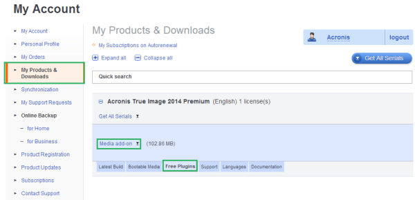 Acronis True Image 2014 Premium: Creating WinPE Media with ...