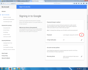 Image of Signing in to Google screen