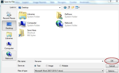 Image of Save As dialog box
