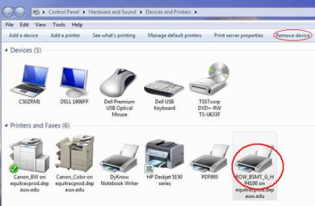 Image of Devices and Printers