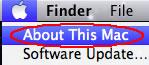 Image of Apple menu