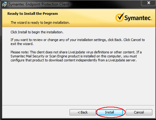 Image of ready to install the program